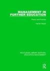 Management in Further Education : Theory and Practice - Book