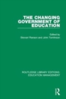 The Changing Government of Education - Book