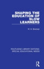 Shaping the Education of Slow Learners - Book