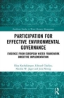 Participation for Effective Environmental Governance : Evidence from European Water Framework Directive Implementation - Book