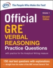 Official GRE Verbal Reasoning Practice Questions, Second Edition, Volume 1 - Book
