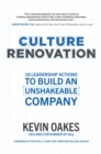Culture Renovation: 18 Leadership Actions to Build an Unshakeable Company - eBook