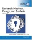 Research Methods, Design, and Analysis, Global Edition - Book