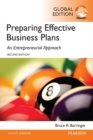 Barringer: Preparing Effective Business Plans: An Entrepreneurial Approach, Global Edition - Book