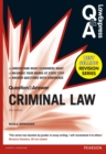 Law Express Question and Answer: Criminal Law (Q&A revision guide) - eBook