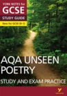 AQA English Literature Unseen Poetry Study and Exam Practice: York Notes for GCSE (9-1) - Book