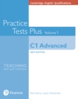 Cambridge English Qualifications: C1 Advanced Volume 1 Practice Tests Plus (no key) - Book