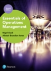 Essentials of Operations Management - Book