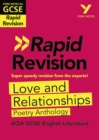 York Notes for AQA GCSE(9-1)Rapid Revision: Love and Relationships Poetry Anthology - Refresh, Revise and Catch up! - Book