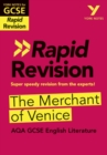 York Notes for AQA GCSE(9-1 Rapid Revision: Merchant of Venice - Refresh, Revise and Catch up! - Book