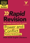 York Notes for AQA GCSE (9-1) Rapid Revision: Power and Conflict AQA Poetry Anthology - eBook