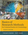 Basics of Research Methods for Criminal Justice and Criminology - Book