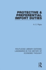 Protective and Preferential Import Duties - eBook