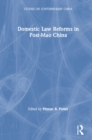 Domestic Law Reforms in Post-Mao China - eBook