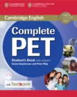 Complete PET Student's Book with Answers with CD-ROM and Testbank - Book