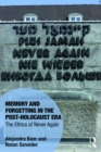 Memory and Forgetting in the Post-Holocaust Era : The Ethics of Never Again - eBook