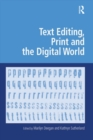 Text Editing, Print and the Digital World - eBook