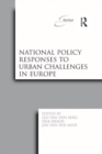 National Policy Responses to Urban Challenges in Europe - eBook
