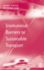 Institutional Barriers to Sustainable Transport - eBook