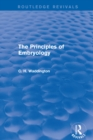 The Principles of Embryology - eBook