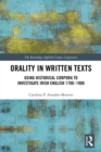 Orality in Written Texts : Using Historical Corpora to Investigate Irish English 1700-1900 - eBook