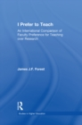 I Prefer to Teach : An International Comparison of Faculty Preference for Teaching - eBook
