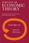Surveys of Economic Theory : Resource Allocation - eBook