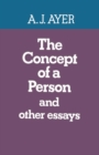 The Concept of a Person : and Other Essays - eBook