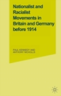 Nationalist and Racialist Movements in Britain and Germany Before 1914 - eBook