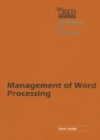 Management of Word Processing - eBook