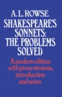 Shakespeare's Sonnets : The Problems Solved - eBook