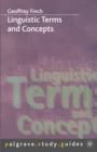 Linguistic Terms and Concepts - eBook