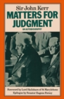 Matters for Judgment: An Autobiography - eBook