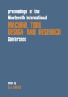 Proceedings of the Nineteenth International Machine Tool Design & Research Conference - eBook