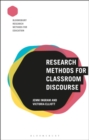 Research Methods for Classroom Discourse - eBook
