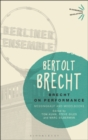 Brecht on Performance : Messingkauf and Modelbooks - Book