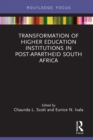Transformation of Higher Education Institutions in Post-Apartheid South Africa - eBook