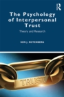 The Psychology of Interpersonal Trust : Theory and Research - eBook