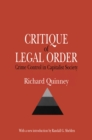 Critique of the Legal Order : Crime Control in Capitalist Society - eBook