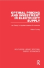 Optimal Pricing and Investment in Electricity Supply : An Esay in Applied Welfare Economics - eBook