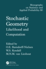 Stochastic Geometry : Likelihood and Computation - eBook