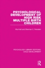 Psychological Development of High Risk Multiple Birth Children - eBook