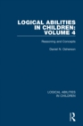 Logical Abilities in Children: Volume 4 : Reasoning and Concepts - eBook