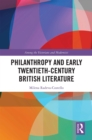 Philanthropy and Early Twentieth-Century British Literature - eBook