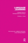 Language Learning : A Special Case for Developmental Psychology? - eBook