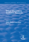 Ethical Dilemmas in Qualitative Research - eBook