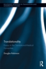Translationality : Essays in the Translational-Medical Humanities - eBook
