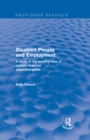 Disabled People and Employment : A Study of the Working Lives of Visually Impaired Physiotherapists - eBook