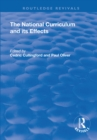 The National Curriculum and its Effects - eBook