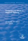 Contemporary Issues in Regional Planning - eBook